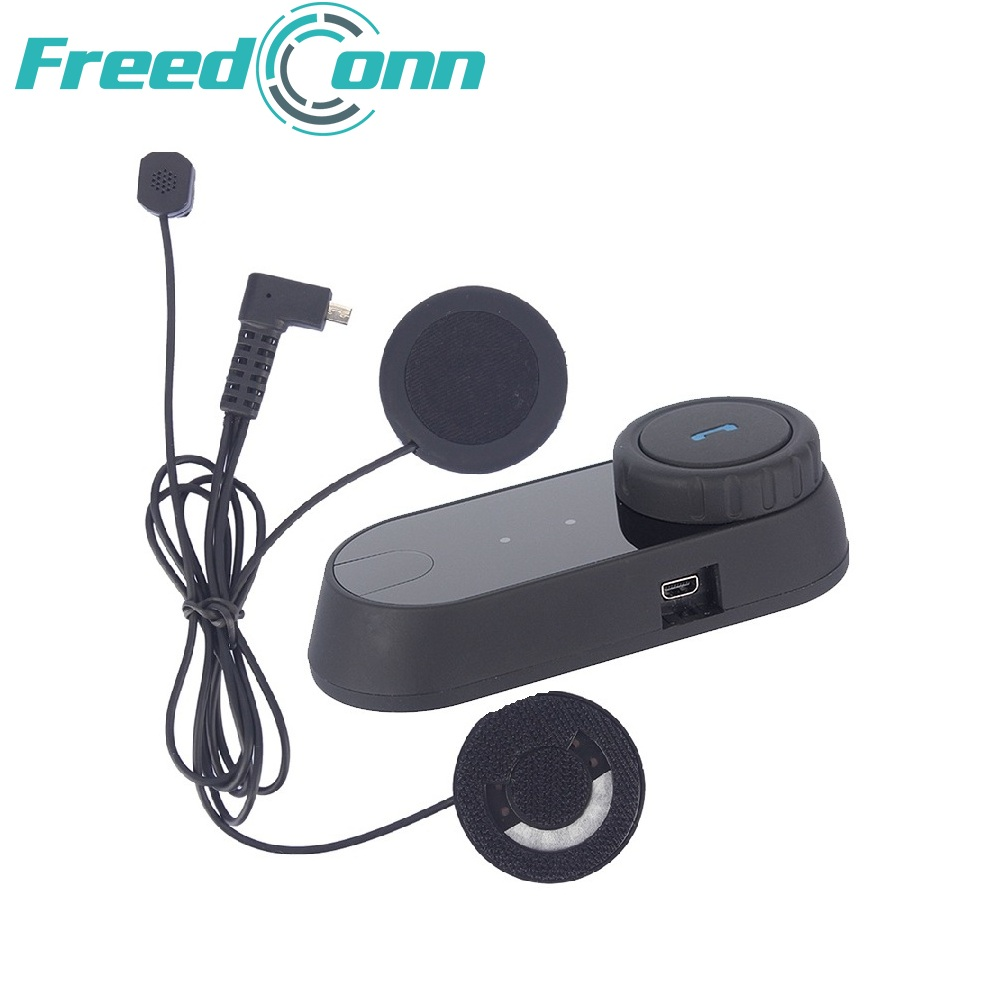 RU Estoque FreedConn fones de ouvido do capacete Da Motocicleta fone de ouvido bluetooth moto sem função de intercomunicação com microfone para capacete integral macio