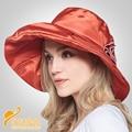 2016 Новая Шляпа Солнца Женщин летом солнце регулируемые складные ветрозащитный леди анти-уф вс-затенение крышка хороший берет шляпы B-2317