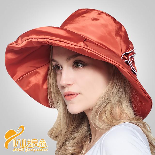 2016 Nuevo Sol Sombrero Mujeres sol del verano plegable ajustable señora a prueba de viento anti-ultravioleta del sol-shading cap niza beret sombreros B-2317