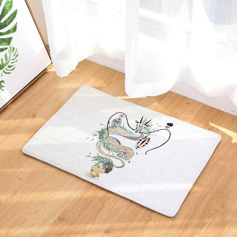 Entrance Anti-Slip Door Mat Cartoon Totoro Wolf Dragon Carpets Bedroom Rugs Decorative Stair Mats Home Crafts