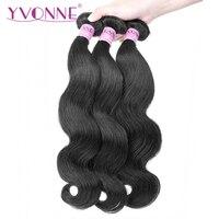 Yvonne Brazilian Body Wave Virgin Hair 1/3 Bundles Human Hair Weave Natural Color