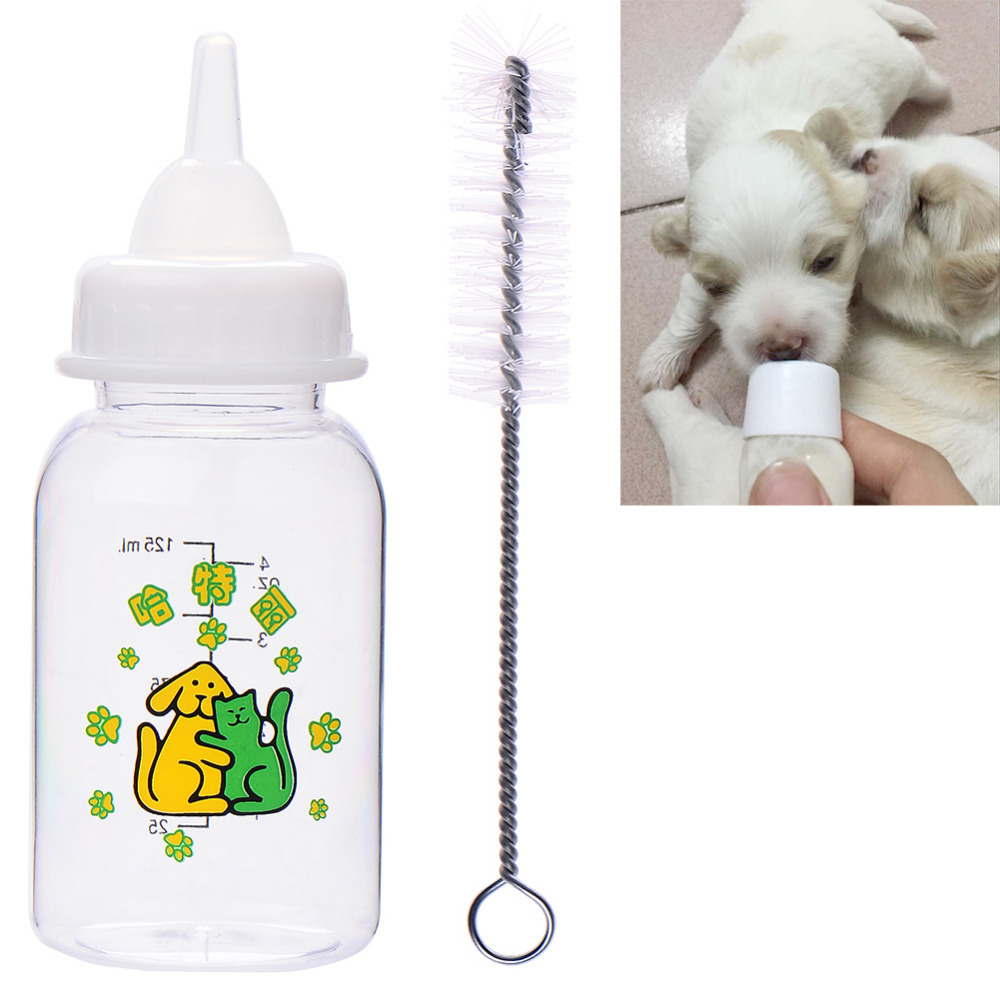 120ML Cat Dog Milk Bottle Pet Puppy Kitten Baby Animal Feeding Bottle Nursing Set