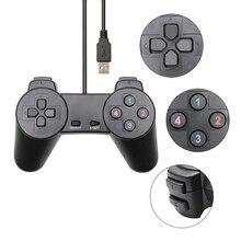 Đen Có Dây Chơi Game USB 2.0 Joystick Điều Khiển Joypad Controle Dành Cho Máy Tính Laptop Máy Tính Dành Cho Máy Tính Laptop Máy Tính Cho Win7/8/10