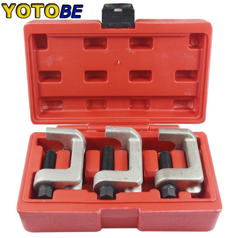 3 pçs bola conjunta extrator extrator extrator extrator pullers kit conjunto torneira cabeça do laço ferramentas de reparo remoção especial para volkswagen audi a4 a6l