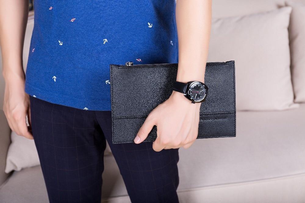 2018 New Luxury Man Fashion Äkta Cow Läder Bag Business Lång - Plånböcker - Foto 2
