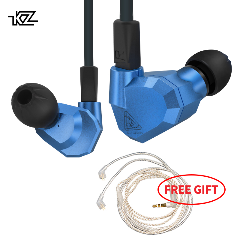 KZ ZS5 Double Hybrid Dynamic and Balanced Armature HIFI Headset Four Driver In Ear Earphone Noise Isolating S Music Earbuds