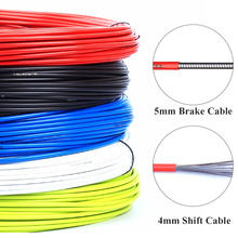 цена на 3m Wire For Bicycle Bike Shifters Derailleur Brake Cables Shift Cable 4mm/5mm MTB Road Bike Shifter Brake Cable Line Pipe