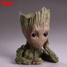 15cm Guardians of The Galaxy Flowerpot Baby Action Figures Cute Model Pen Pot Best Christmas Gifts Toys For Kids Home Decoration