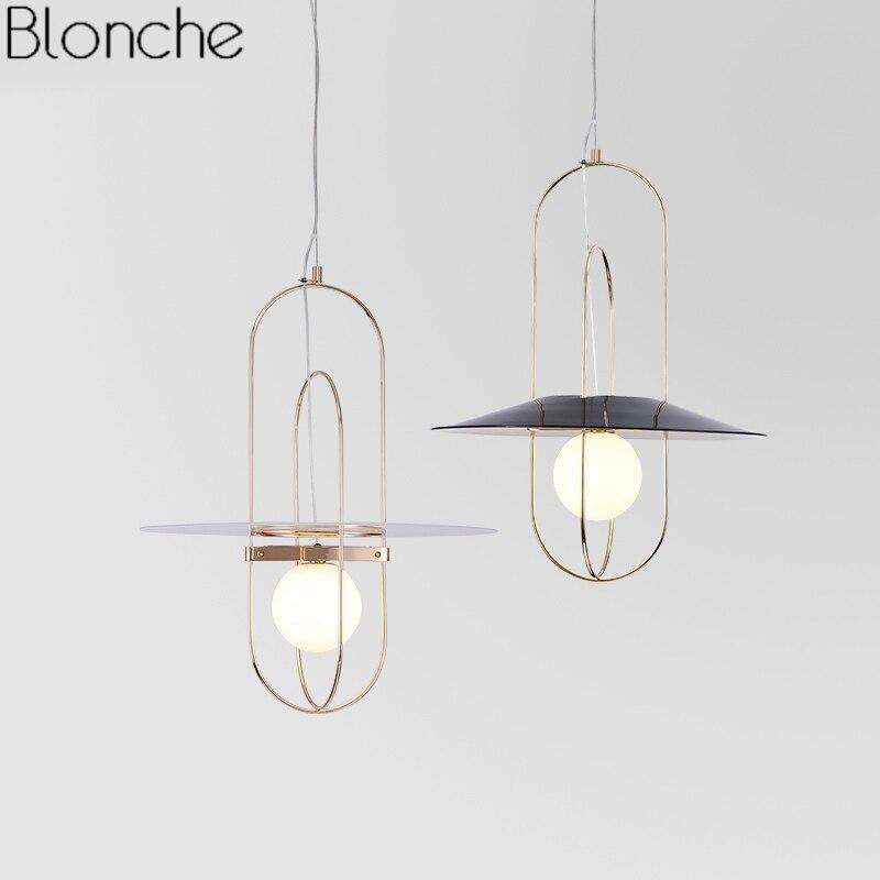 Nordic Design Glass Ball Pendant Lights for Dining Room Bedroom Lamp Postmodern Led Hanging Light Fixtures Home Industrial Decor все цены