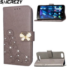 Leer Telefoon Case Voor BQ Strike 5020 Diamond Wallet Flip Cover Voor Bq5020 Cash Kaarten Houder Stand Power 5059 Selfie 5050 5070(China)