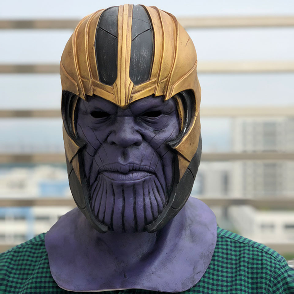 Avengers Endgame Masques Thanos Cosplay Masque Casque Infinity Gauntlet Marvel Super-héros Avengers Halloween Party Props Deluxe3