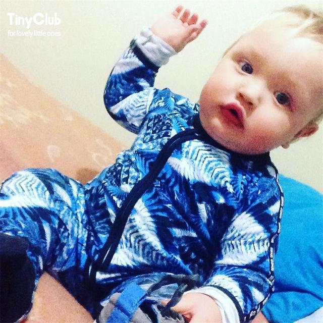 392e4e415de0 Infant Jumpsuit Long Sleeves Blue Romper Baby Boy Girl Clothes Tiny Cottons  New Born Toddler Onesie
