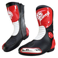 Scoyco MBT004 motorcycle Racing shoes Motocross Motorbike boots 39-46 SIZE Black Red Metal SPEED MX Road ATV Protective Black