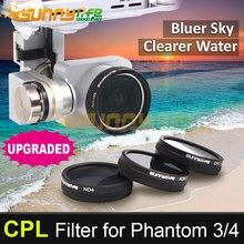 Sunnylife DJI Phantom 3/4 Accessory CPL Filter Circular Polarizer Filter for Phantom 4/3 Professional & Advanced & Standard