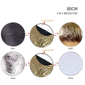 Image 5 - 80cm 5 in 1 Portable Collapsible Round Light Reflector Flash Accessories for Photo Studio Multi Photo Disc Diffuers