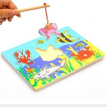 Магнитные игрушки-головоломки, новинка, деревянные 3d головоломки, детские развивающие деревянные игрушки для рыбалки, веселые игры для детей, подарки для детей, магнитные игрушки для рыбалки