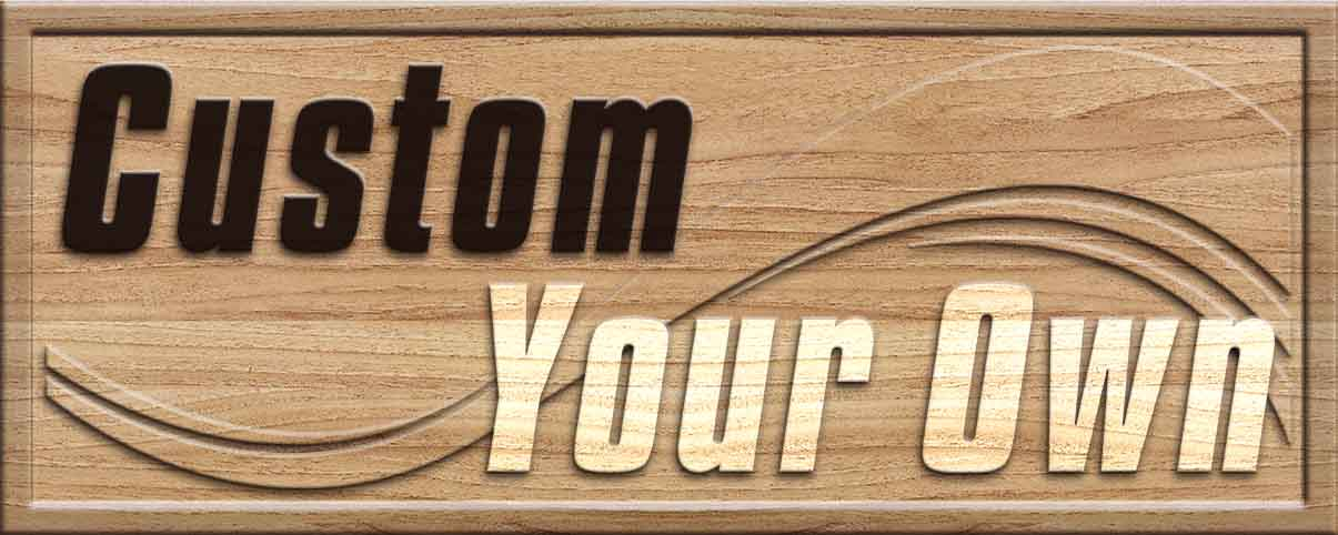 Custom wood sign design your own 3d wooden bar sign for Design your own house sign
