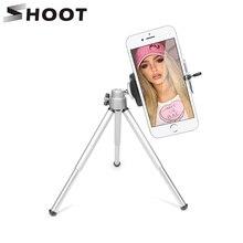SHOOT Aluminum Portable Mini Tripod For Phone iPhone GoPro Hero 6 5 Xiaoyi 4K SJCAM Action Camera with Phone Clip Tripod Stand