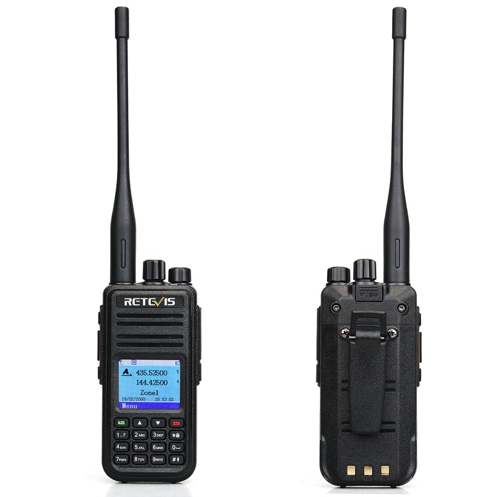 Image 2 - RETEVIS RT3S DMR Digital Radio Walkie Talkie (GPS) 5W VHF UHF Dual Band DMR Radio Transceiver Ham Radio Amador+Program Cable-in Walkie Talkie from Cellphones & Telecommunications