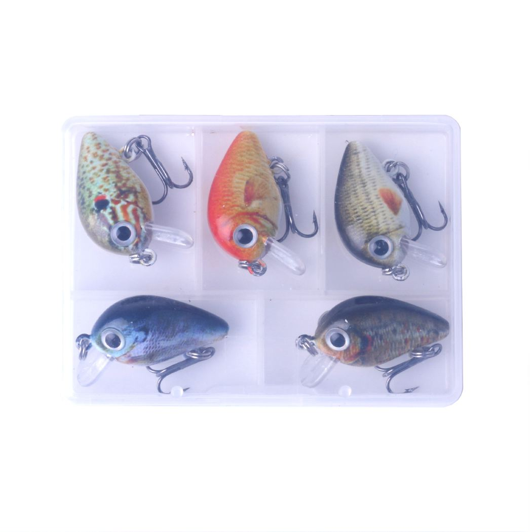 Back To Search Resultssports & Entertainment Fishing Clever 5pcs/lot 1.5g 2.7cm Topwater 0.1-0.5m Wobbler Mini Crankbait 5 Pcs Baits With Plastic Box Fly Fishing Lure Crazy Wobbler