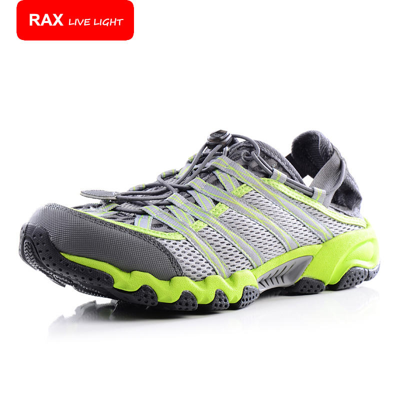RAX Outdoor Breathable Hiking Shoes Men Women Lightweight Walking Climbing Shoes Anti-skid Aqua Water Trekking Shoes 31-5K065 women slingbacks shoes with pointed toe buckle strap perspex design crystal decoration ladies dress and party shoes high heels