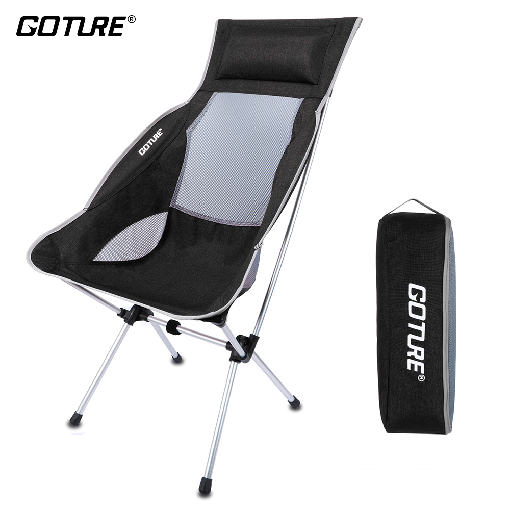 Portable Folding Fishing Chair Super Lightweight High Back with Carry Bag for Backpacking, Camping, Outdoor Activities Tool 47 folding fishing rod bag tactical duel rifle gun carry bag with shoulder strap outdoor fishing hunting gear accessory bag