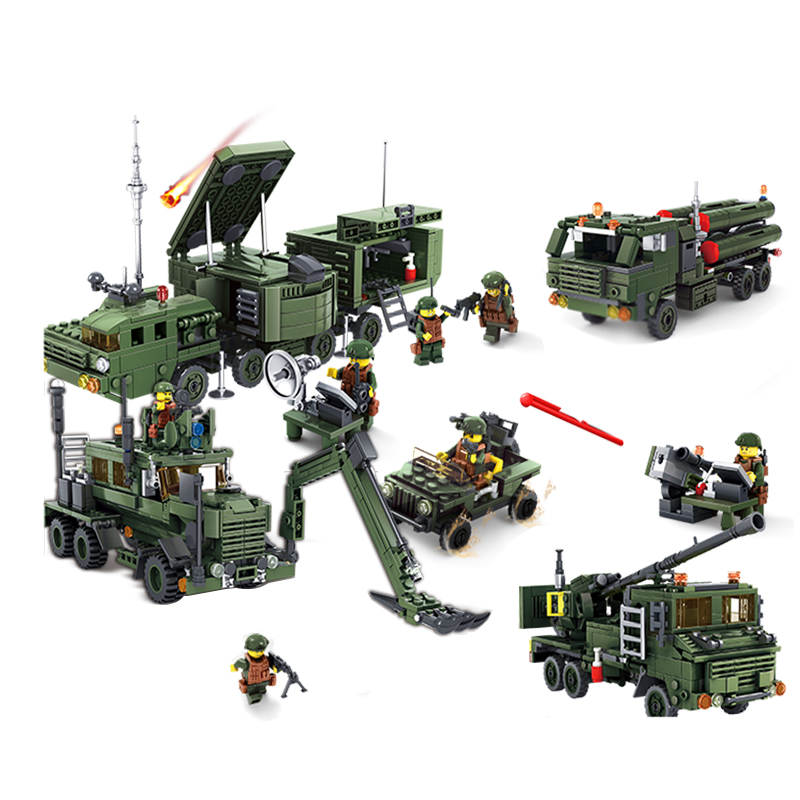 KAZI  Military series Compatible Legoe City DIY Army Cars Planes Helicopter Figures Weapon Bricks Educational Toys For Children набор канцелярский planes