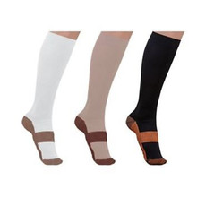Copper Infused Compression Socks 20-30mmHg Graduated Mens Womens S-XXL Unisex