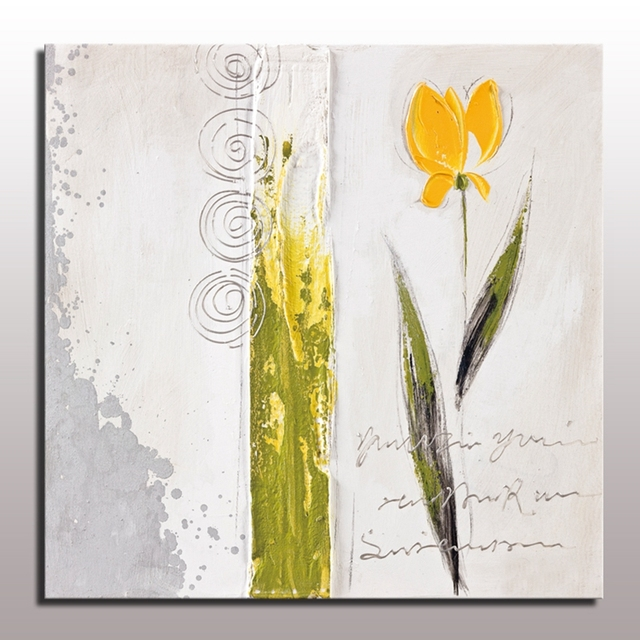 Hand painted acrylic abstract oil painting yellow flower wall hand painted acrylic abstract oil painting yellow flower wall painting home decor pictures unframed flower canvas mightylinksfo