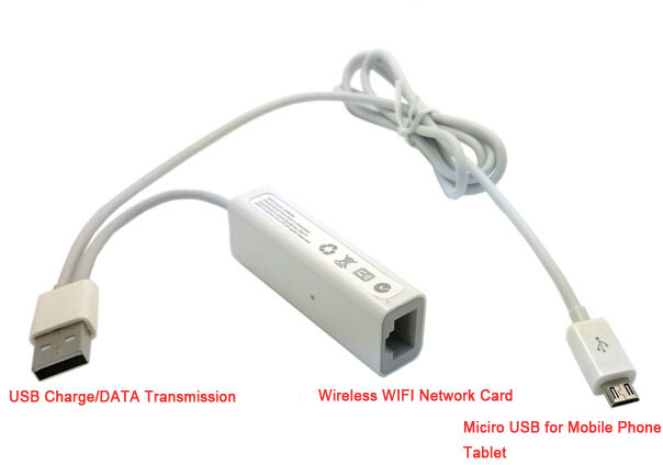 Micro USB Wired Ethernet Network Card + RJ45 Wirelss WIFI ...