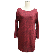 2018 Spring Plus Size Dresses Women Casual Loose Long Sleeve Knitted T Shirt Dress Cotton Mini Dress Vestido Cheap Clothes China