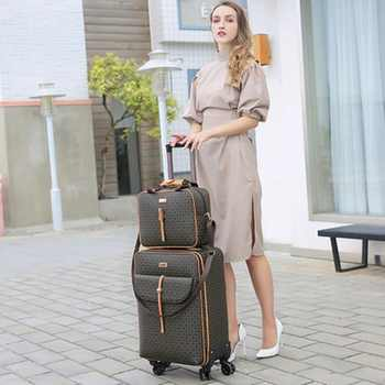 International fashion luxury  16/20/24 inch handbag+ Rolling Luggage Spinner brand Woman travel Suitcase - DISCOUNT ITEM  21% OFF All Category