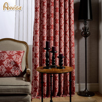 Cotton Linen Fabric 2 Colors Blackout Curtains For Living Bedroom Jacquard Drapes For Bedroom
