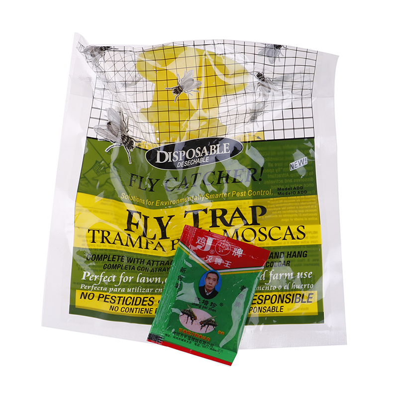 Useful Anti FlyTrap Hanging fly attracting bag Attractant for Outdoor Garden Pest Catcher Products Disposable Hanging Bait Bag in Traps from Home Garden