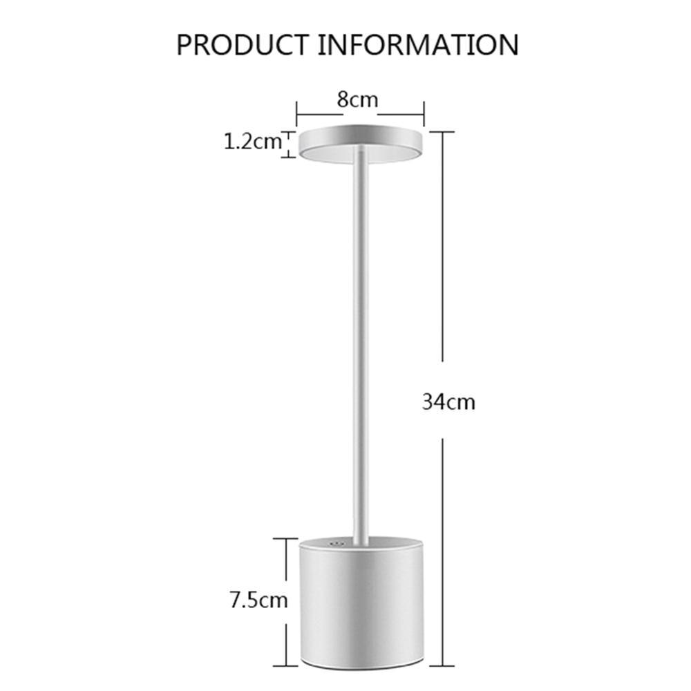 LED Table Lamp Modern Restaurant Dinner Light USB Rechargeable Creative Lighting Decor For Bar Hotel Dinning Room Waterproof 6