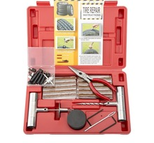 Tire Repair Kit, 65pcs Heavy Duty Flat Tire Repair Set for Motorcycles ATVs UTVs Tractors Lawn Mowers Trucks Jeeps Cars Bikes