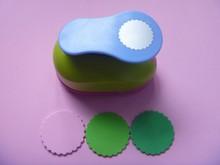 Perforador de papel de espuma EVA para tarjetas de felicitación, círculo ondulado de 2 pulgadas, hecho a mano, arte de colección de recortes, máquina perforadora, Envío Gratis