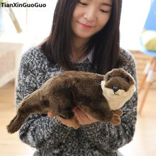 lovely brown Common Otter plush toy about 40cm Marine animal Lutra soft doll birthday gift s0198(China)