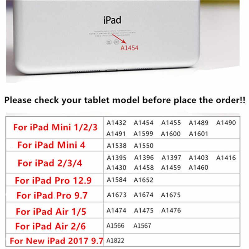 Para iPad 9,7 2018 Funda dura de mármol para Tablet Funda inteligente para iPad 9,7 2017 Air 1 2 Mini 1 2 3 4 iPad 2/3/4 Funda Capa + pluma