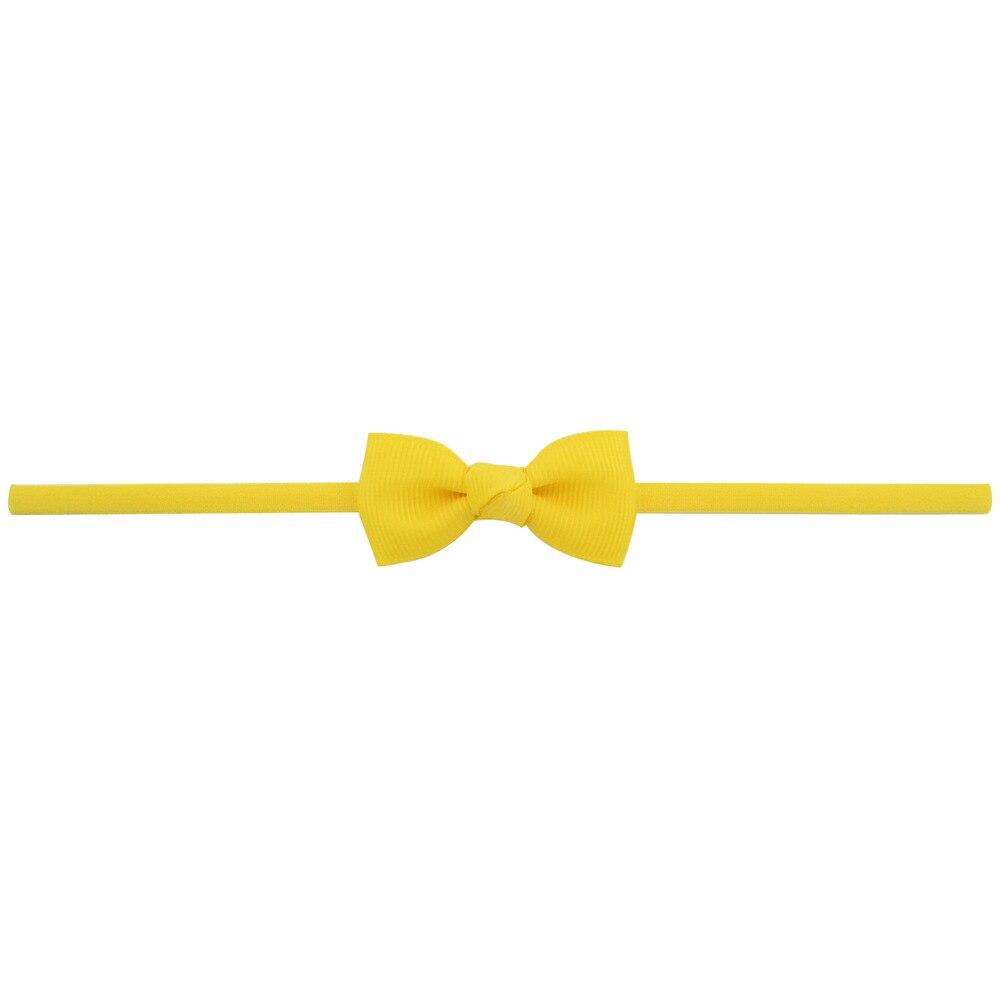 Повязка на голову для маленьких девочек; аксессуары для волос для младенцев; тканевый галстук с бантом; головной убор; Тиара; подарок для малышей; повязка на голову с лентой для новорожденных - Цвет: 10