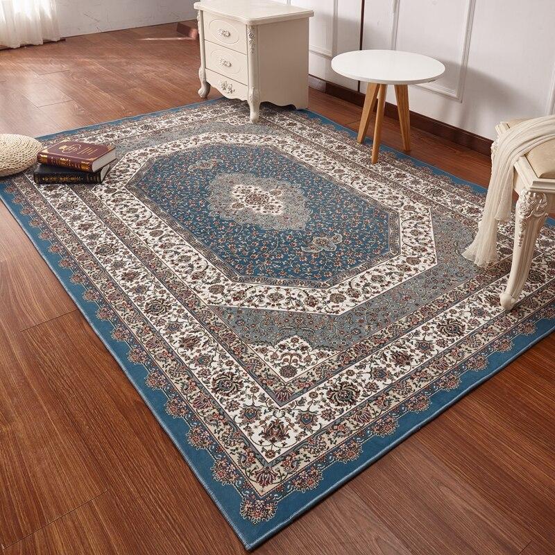 Персидский стиль ковры для Гостиная Роскошный спальня ковры s и классический Турция исследование пол Коврики Кофе стол области