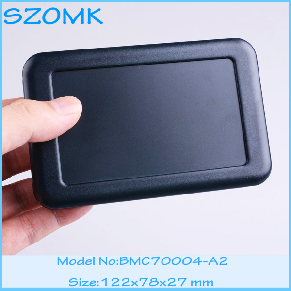 1 piece free  shipping plastic case  for electronics Black color enclosures battery junction box  for pcb design 122x78x27 mm