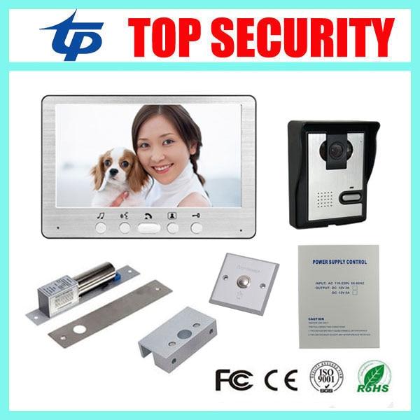 IP64 waterproof 7 inch color video door phone video door phone door bell system+power