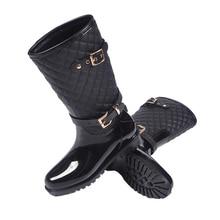Women's High Waterproof Wellies Rain Boots Shoes Ladies Non-Slip Water Resistant Rainshoes Anti Water for Winter Botas De Lluvia