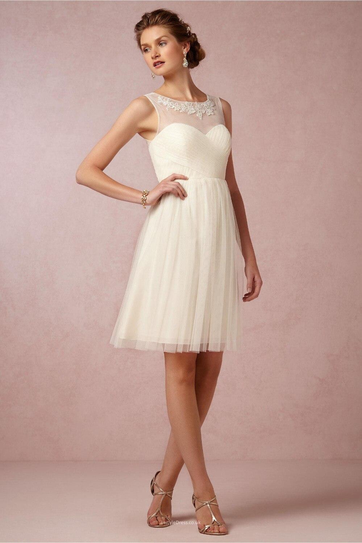 Short cream colored prom dresses