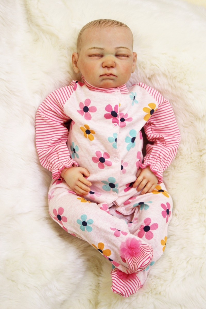 20 дюймов Новорожденные куклы reborn baby Мягкие силиконовые ручные окрашенные волосы настоящие, как милые малыши Дети сопровождать игровой дом