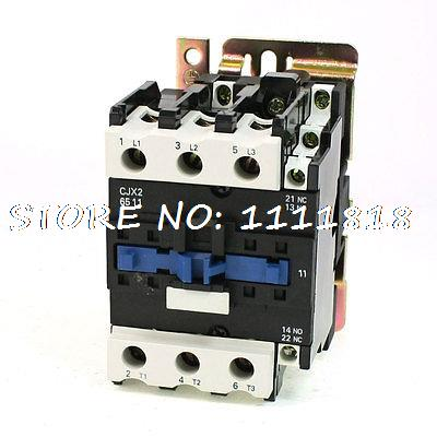 цена на CJX2-6511 DIN Rail Mount AC Contactor 3 Pole One NO 380V Coil 80A