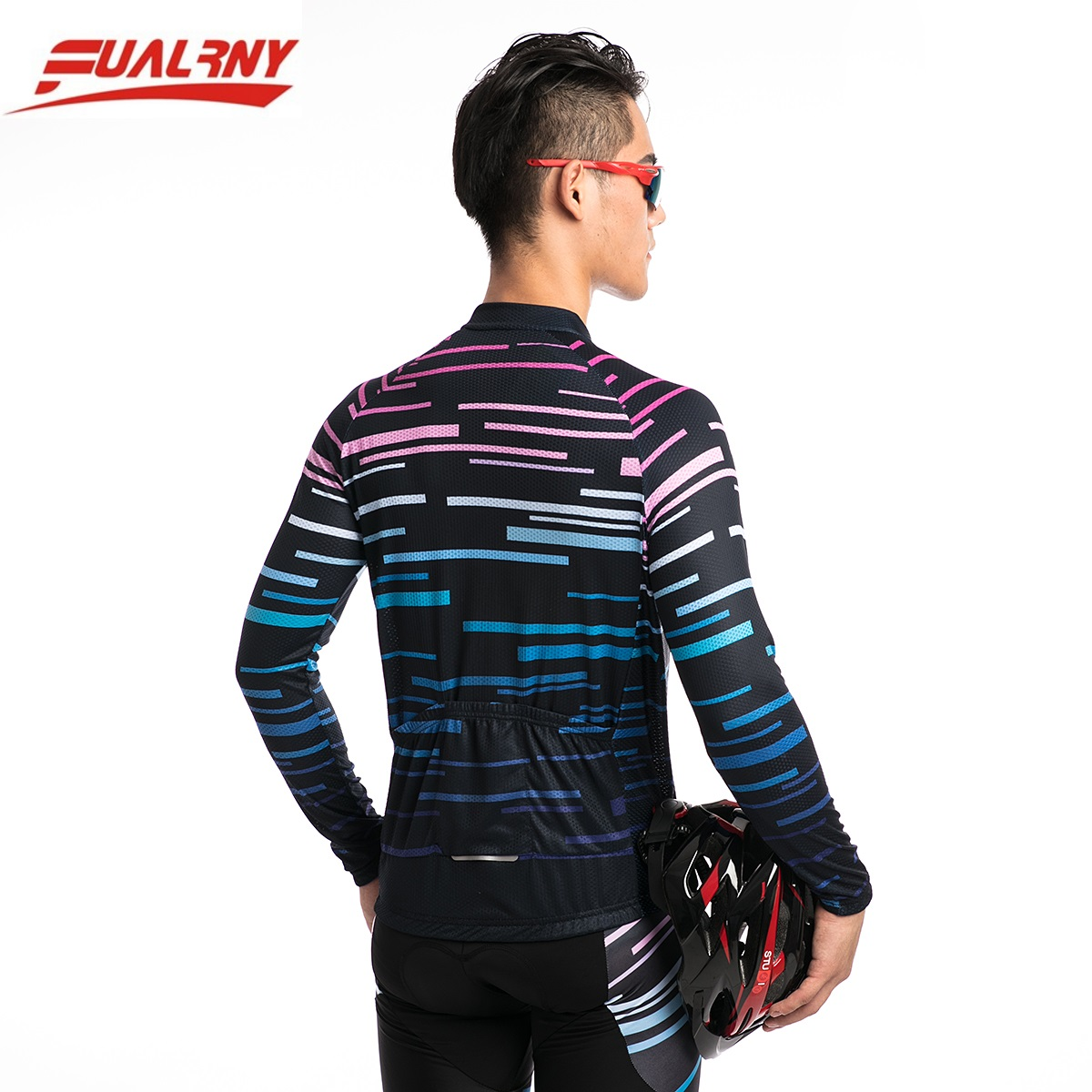 2019 FUALRNY NEW cycling jersey long sleeve men cycling jersey top sale mtb bike wear cycling 100 Polyester jersey mature Line in Cycling Jerseys from Sports Entertainment