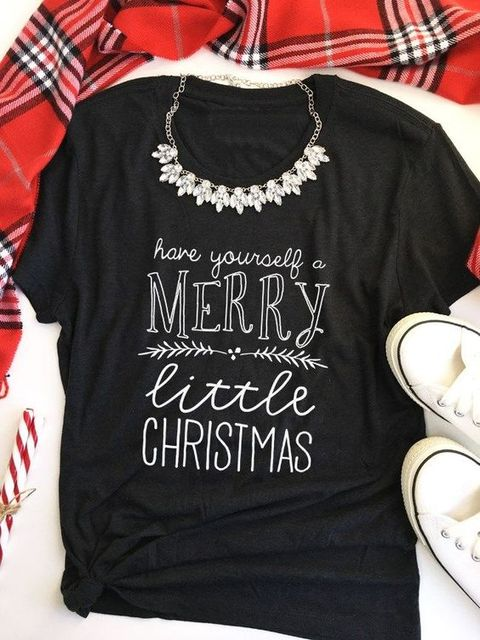 1bb903be Merry Christmas t-shirt women fashion funny slogan unisex cotton tees  holiday grunge graphic kawaii vintage shirt goth art tops