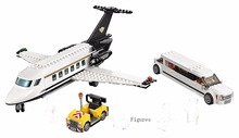 Lepin 02044 City Airport VIP Service Compatible with Lego Plane Block Set Limousine Car Model Toy